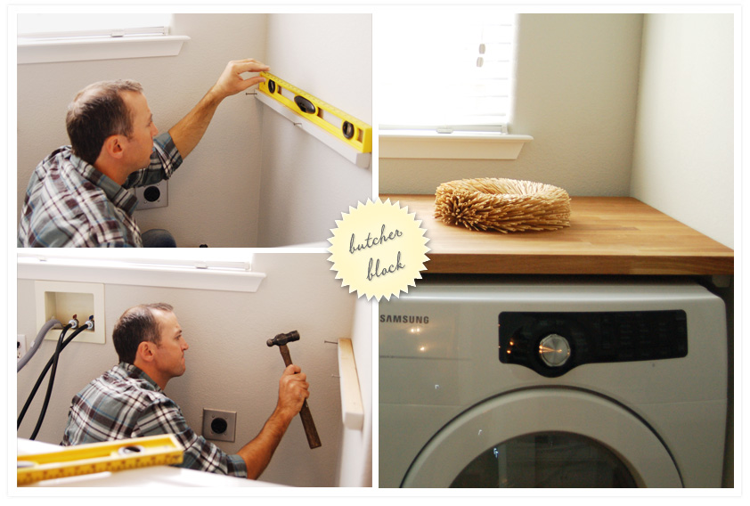 diy countertop over front load washer and dryer ask home design