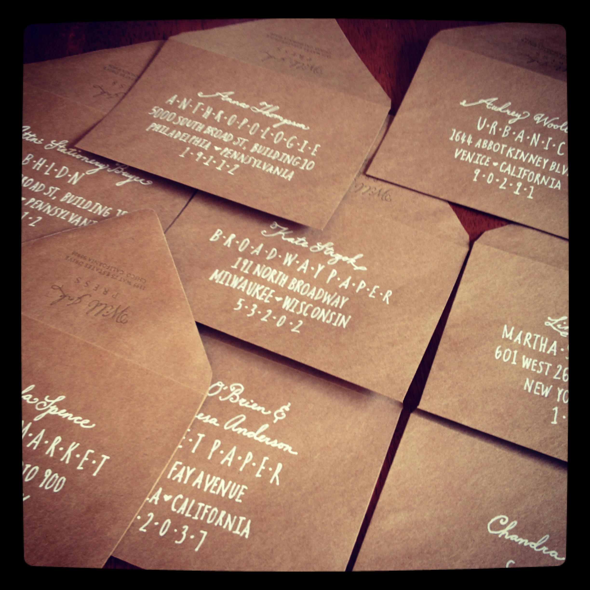 Papyrus Wedding Invitations 16 Epic hand addressing NSS mailers
