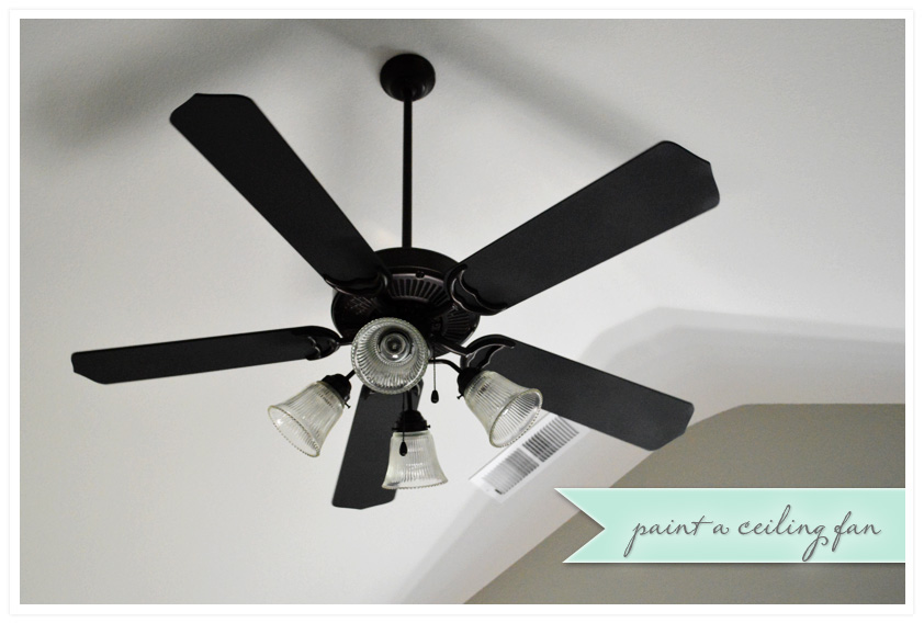 A 12 ceiling fan redo wild ink press transform an old ceiling fan with paint aloadofball Images