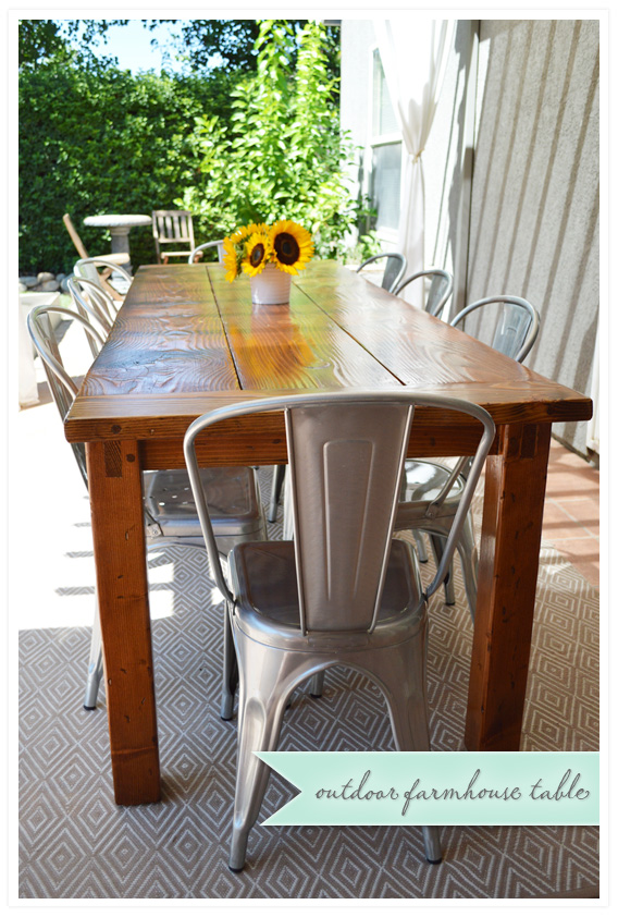 Diy Outdoor Farmhouse Table On Diy Outdoor Farmhouse Table Diy Table Wild Ink Press