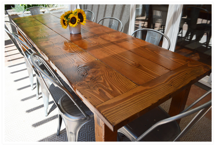 DIY Outdoor Farmhouse Table (made From Salvaged Fir)