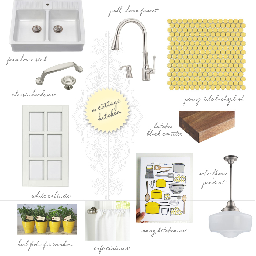 cottage kitchen mood board