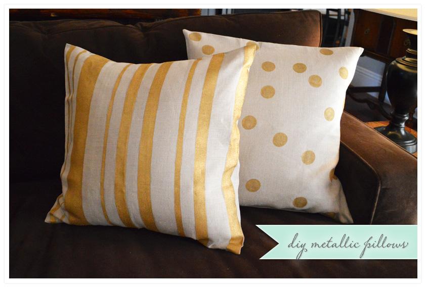 diy metallic pillows for fall | wild ink press Diy Fall Throw Pillows